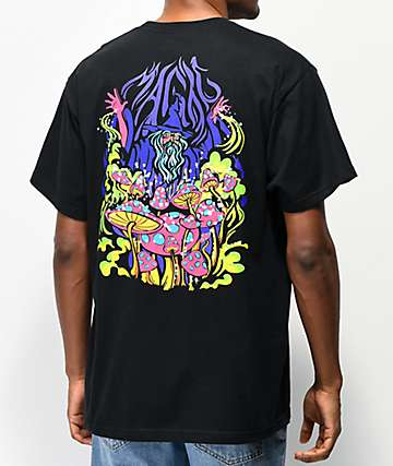 A-Lab Magic Mushrooms Black T-Shirt