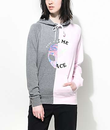 A-Lab Marlen Space Alien Split Grey & Pink Hoodie
