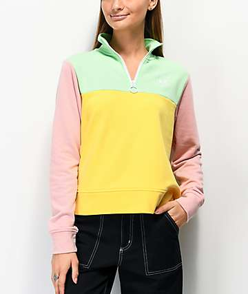 A-Lab Miro Colorblock Quarter Zip Sweatshirt