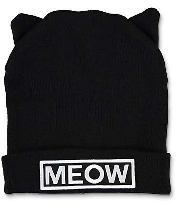 A-Lab Miss Meow Black Beanie