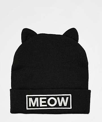 7cb1357fa381e A-Lab Miss Meow Black Beanie