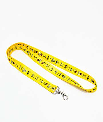 A-Lab Mood Faces Yellow Lanyard