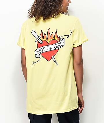A-Lab Not Ur Girl Tat Yellow T-Shirt