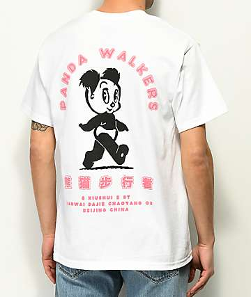 A-Lab Panda Walkers White T-Shirt