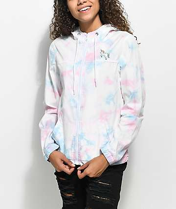 A-Lab Pippa Unicorn Tie Dye Full Zip Jacket
