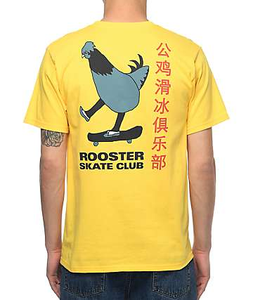 A-Lab Rooster Sk8 Club Yellow T-Shirt