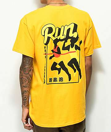 A-Lab Run From Yourself Gold T-Shirt
