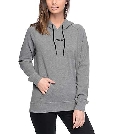 A-Lab Saleh Alien Elbow Patch Charcoal Hoodie