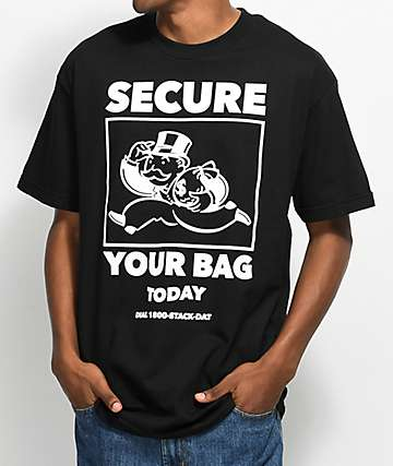 A-Lab Secure Your Bag Black T-Shirt