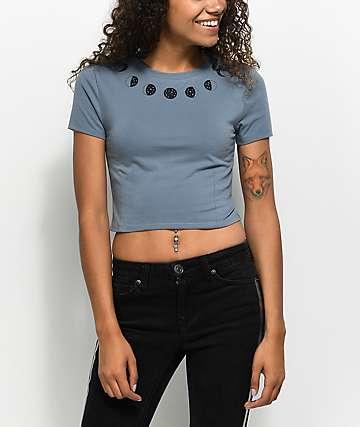 A-Lab Serina Moon Phase camiseta corta en azul