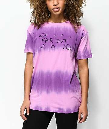 A-Lab Shannon Far Out camiseta con efecto tie dye en rosa y azul