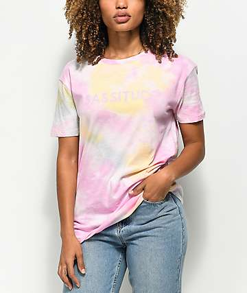 A-Lab Shannon Sassitude Multi Tie Dye T-Shirt