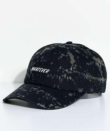 A-Lab Solstice Whatever Bleach Splatter Black Baseball Hat