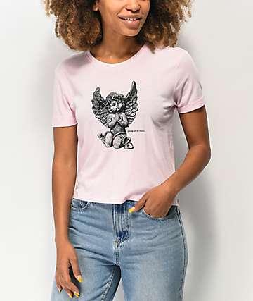 A-Lab Yohannie Cherub Pink Crop T-Shirt
