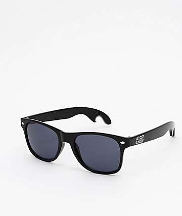 A Lost Cause 6PK Bottle Opener Black & Smoke Sunglasses