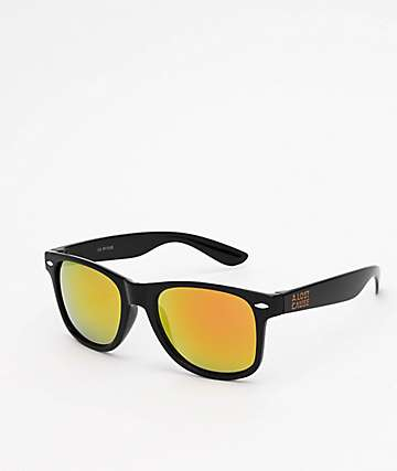 A Lost Cause Brushed Black & Orange Sunglasses