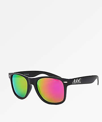 A Lost Cause Brushed Black & Pink Sunglasses