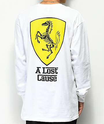 A Lost Cause Ferrari White Long Sleeve T-Shirt