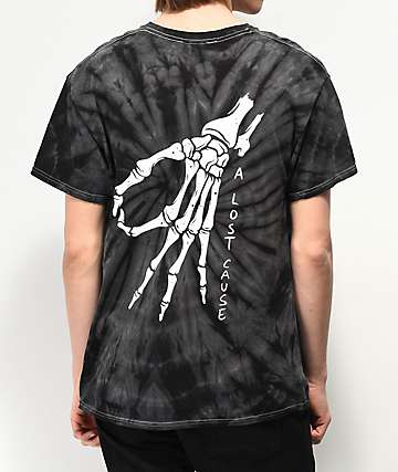 A Lost Cause Gotcha Black Tie Dye T-Shirt