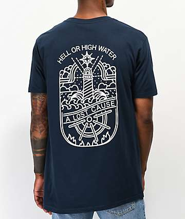 A Lost Cause High Water Navy T-Shirt
