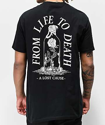 A Lost Cause Life To Death V2 Black T-Shirt