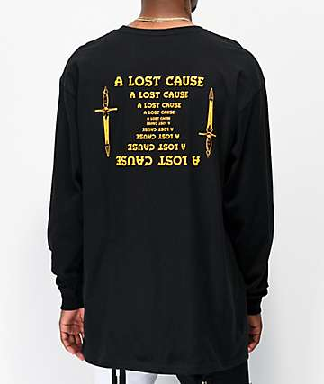 A Lost Cause Mirrored Black Long Sleeve T-Shirt