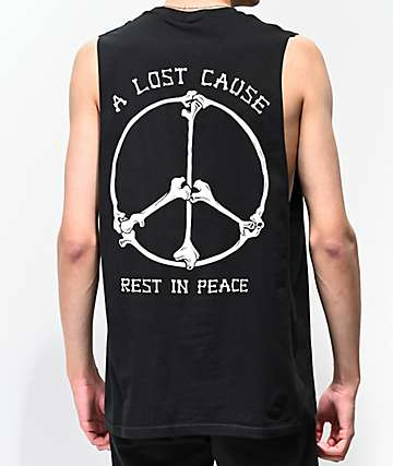 A Lost Cause Rest In Peace Black Muscle Tank Top