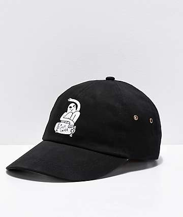 A Lost Cause Rippin' Black Strapback Hat