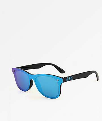 A Lost Cause Salty Black & Blue Sunglasses