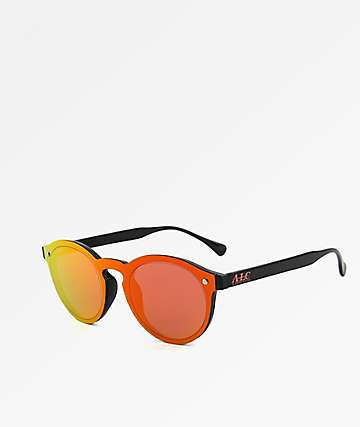 A Lost Cause Sunrise Black & Orange Sunglasses