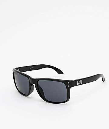 A Lost Cause Wrap Black & Smoke Sunglasses