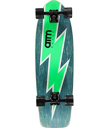 """ATM Bolt Green 29"""" cruiser skateboard completo"""