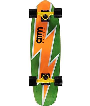 """ATM Bolt Orange 27"""" cruiser skateboard completo"""
