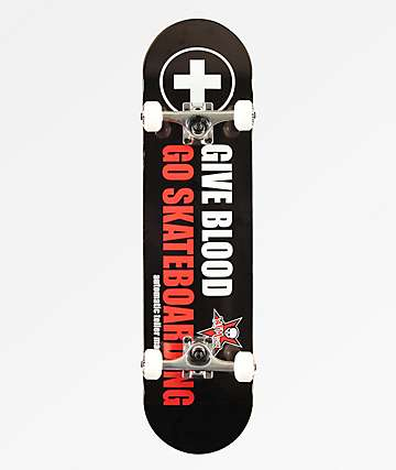 "ATM Give Blood 8.0"" Skateboard Complete"