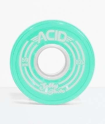 ATM Jelly Shot Acid 59mm 82A Teal Skateboard Wheels