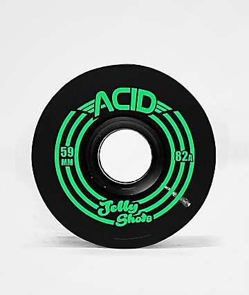 ATM Jelly Shot Acid 59mm 82a Black Skateboard Wheels