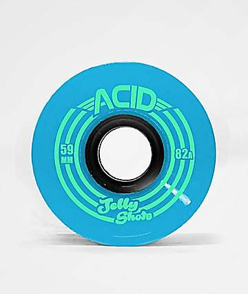 ATM Jelly Shot Acid 59mm 82a Blue Skateboard Wheels