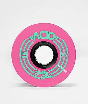 ATM Jelly Shot Acid 59mm 82a Pink Skateboard Wheels