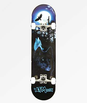 "ATM Lone Wolf 8.0"" Skateboard Complete"