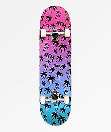 "ATM Neon Beach 7.75"" Skateboard Complete"