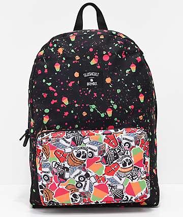 Acembly x Slushcult Modular mochila con rayas y salpicaduras