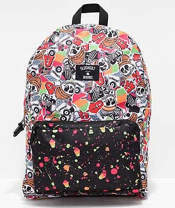 Acembly x Slushcult Splatter Cup Collage Modular Backpack
