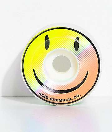 Acid Chemical Co. Smile 54mm ruedas de skate en azul y rosa
