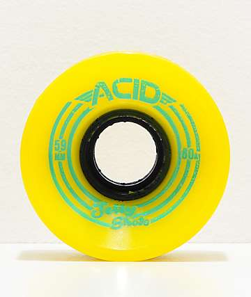Acid Jelly Shots  59mm 80a ruedas de skate en color amarillo