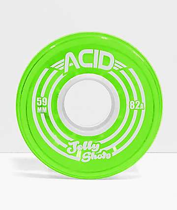 Acid Jelly Shots Green 59mm 82a Skateboard Wheels