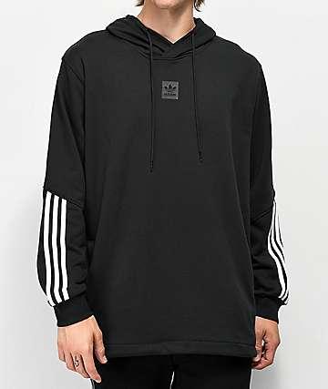 Adidas Cornered sudadera negra con capucha
