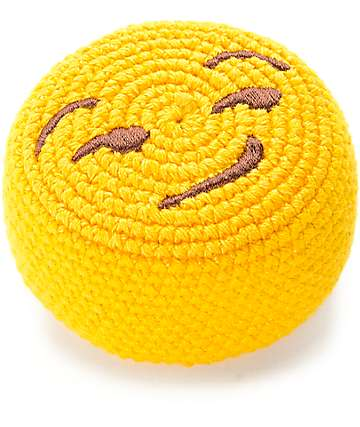 Adventure Imports Emoji Smirk Face Footbag