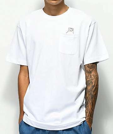 Ain't Nobody Cool Circle Game camiseta blanca con bolsillo