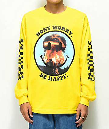 Ain't Nobody Cool Don't Worry camiseta amarilla de manga larga