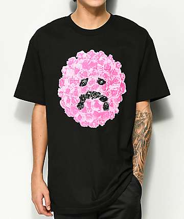 Ain't Nobody Cool Sad Roses Black T-Shirt